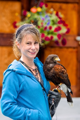 Kelly with Falcon