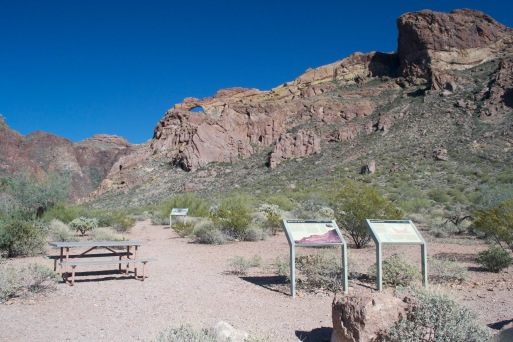 Here's the trailhead to Arch Canyon Trail.
