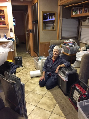 Aaaaaaaaand the move in. My mom.. um... she has well... a LOT of stuff!!!