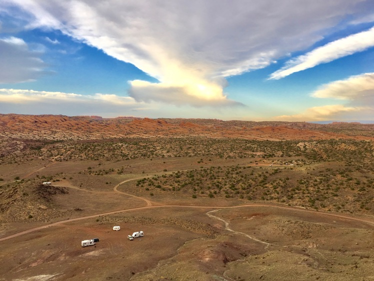 Campsite from top of Copper hills