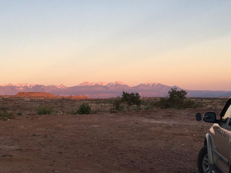 Purple mountains!
