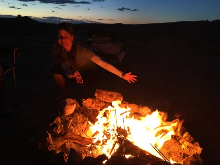 Smiley fire in Moab
