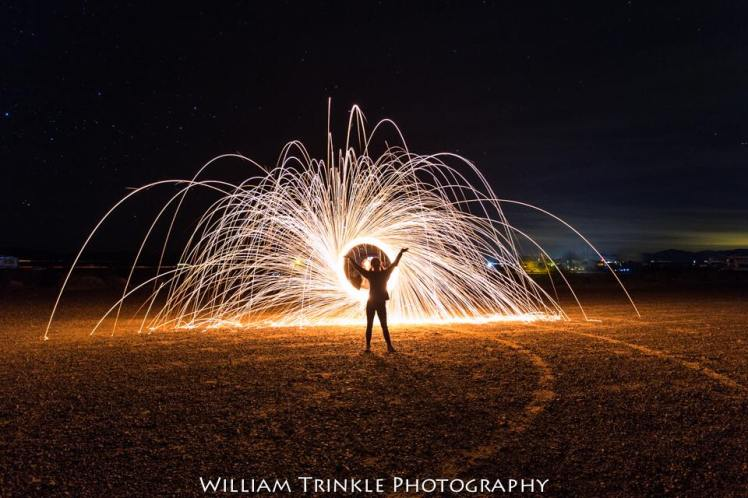 Bill Trinkle light painting at Xscapers 2018