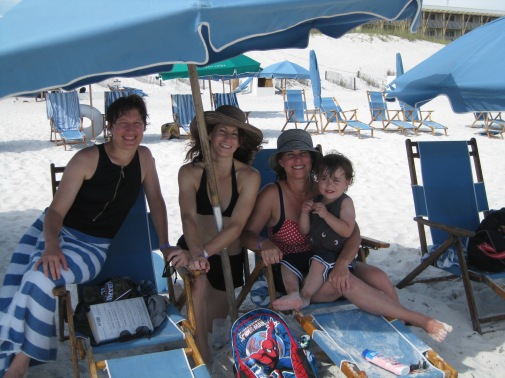 Beach with family