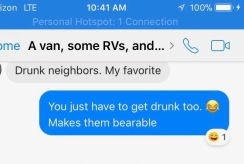 Drunk neighbors